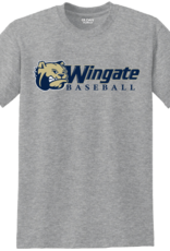 Gildan Grey Dog Head Wingate Baseball SS