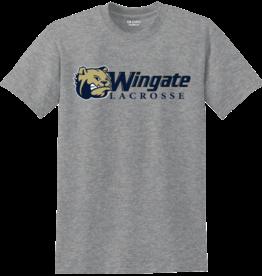 Gildan Grey Dog Head Wingate Lacrosse SS