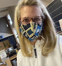 Jardine All Over Logos Breathable, Washable, Adjustable Straps Mask