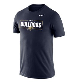 Nike Navy Legend Wingate University Bulldogs Full Dog SS