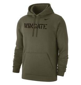 Nike Military Olive Wingate Club Fleece PO Hood