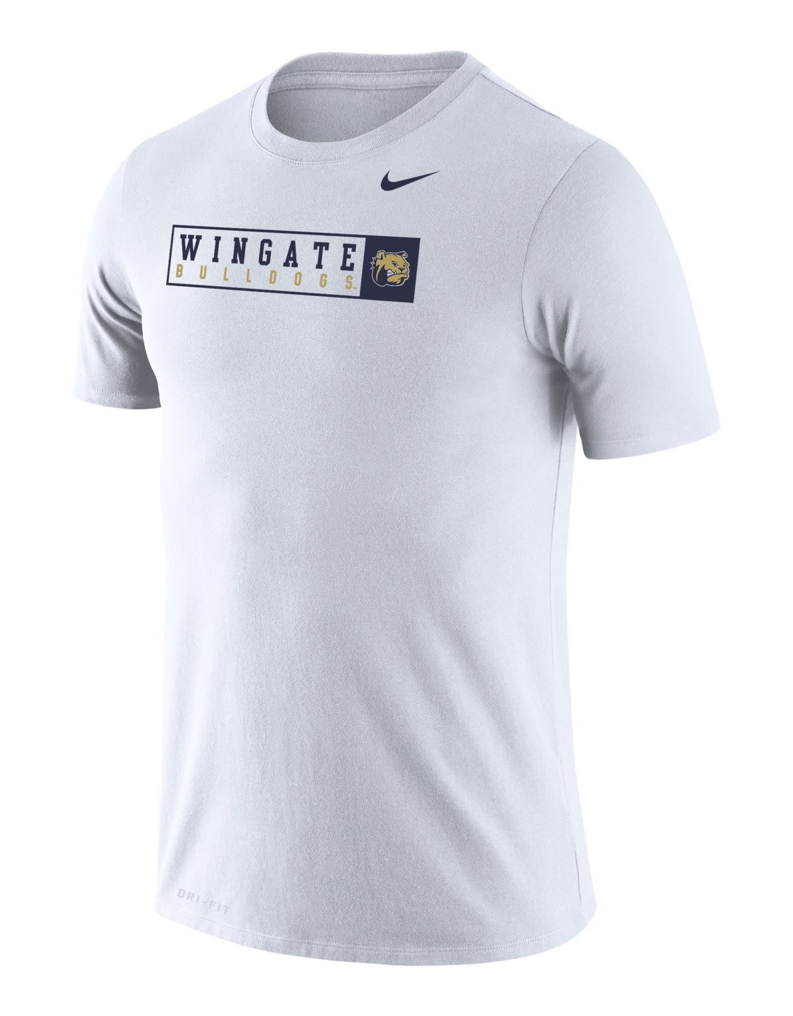 Nike White Wingate Bulldogs Dog Head Legend SS