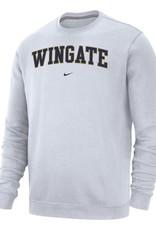 Nike White Wingate Club Fleece Crew