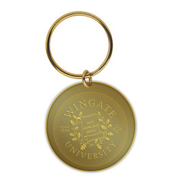 MCM Dimensional Brass Seal Keychain 1 Sided
