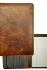 MCM Tan Westbridge Leather Padfolio Embossed Seal