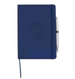 MCM Navy Prime Journal With Pen Embossed Seal