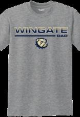 Gildan New Wingate Dad Dog Head Grey  SS Tee