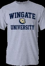 Gildan Grey Wingate New Dog Head University SS Tee
