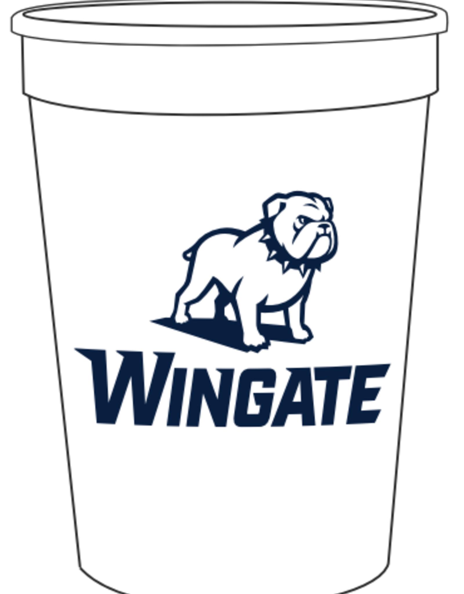White Bleacher Stadium Cup New Full Dog Over Wingate