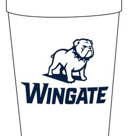 12oz White Bleacher Stadium Cup New Full Dog Over Wingate