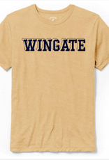 League Heather Gold Navy Shadow Wingate  SS Tee