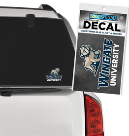 CDI 5 x 3 New Full Dog Over Wingate University Decal