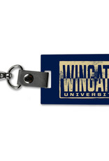 Legacy Navy Wooden Wingate University Luggage Or Key Tag