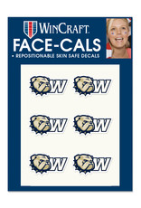 Wincraft 6 Pack New Dog Head W Repositionable Face Decals