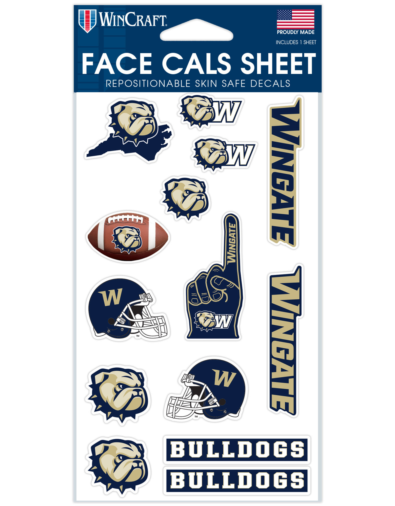 Wincraft 14 Pack New Logos Repositionable Face Decals