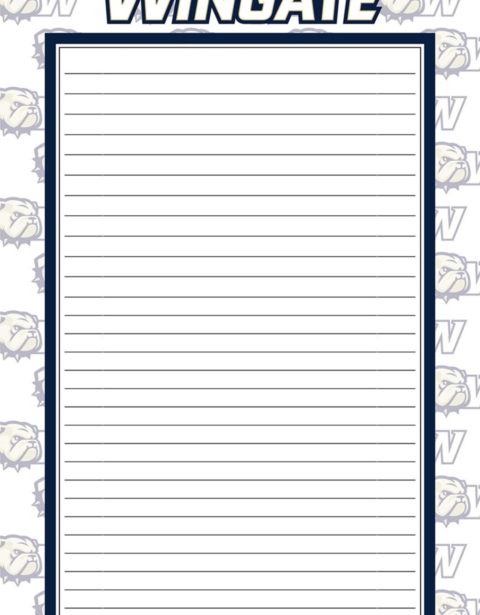 The Fanatic Group 5 x 8  New 2 Pack Wingate Dog Head W Memo Pads