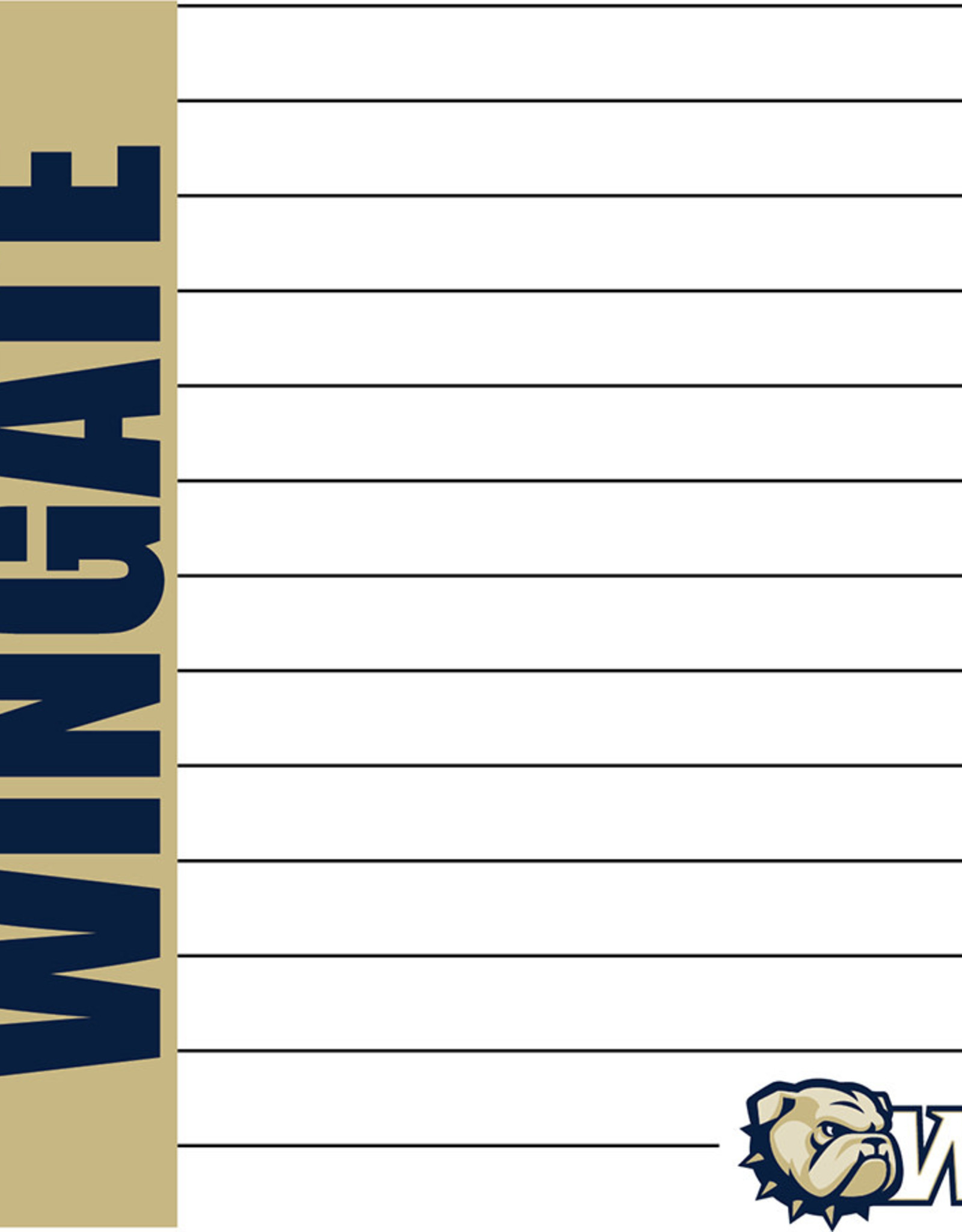 The Fanatic Group 4 x 5  New 2 Pack Wingate Dog Head W Memo Pads