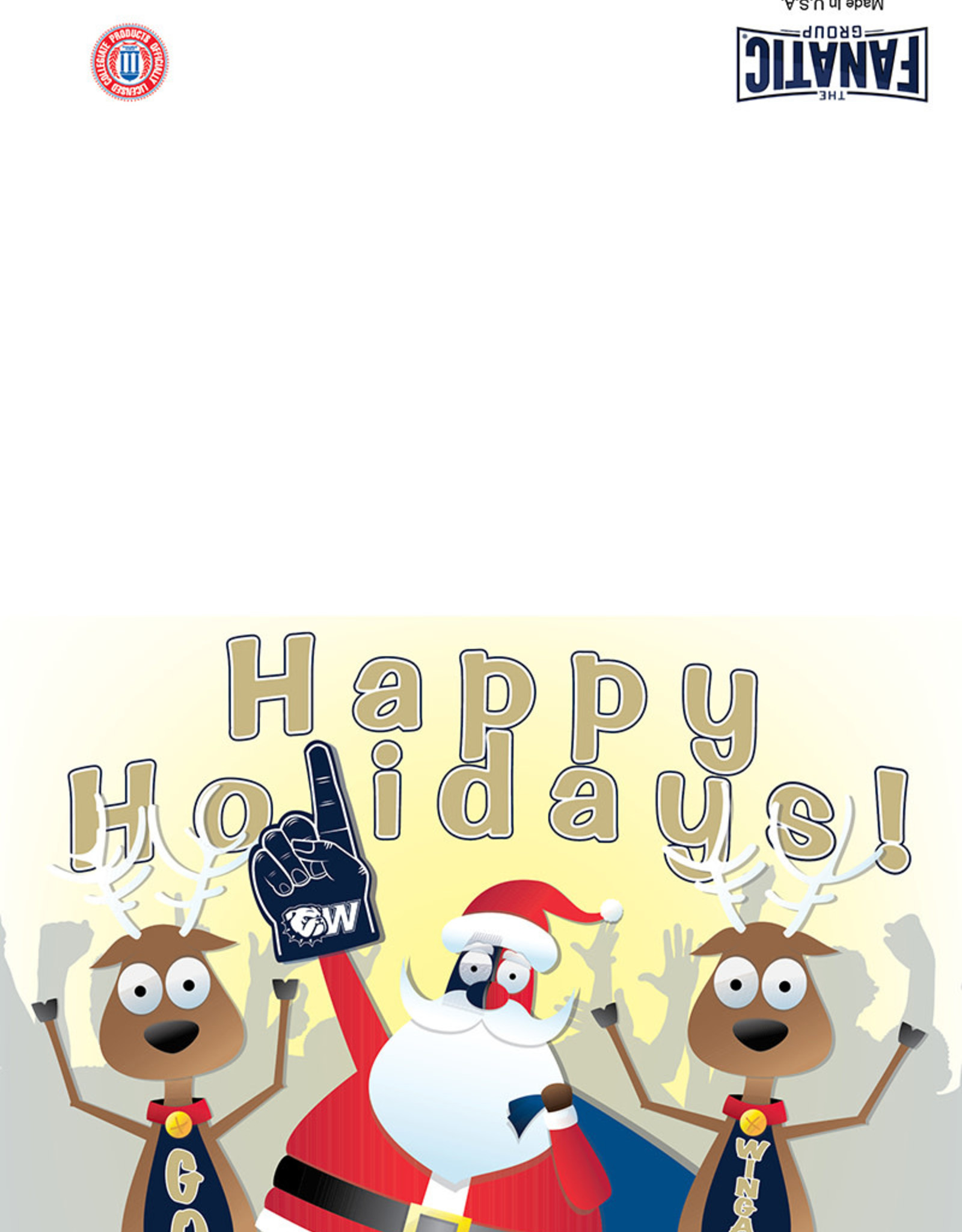 The Fanatic Group 5 x 7 Happy Holidays Go Bulldogs Card