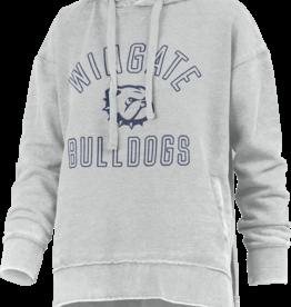 Press Box Grey New Wingate  Dog Head Bulldogs Rockford Drop Tail Vintage Hoodie