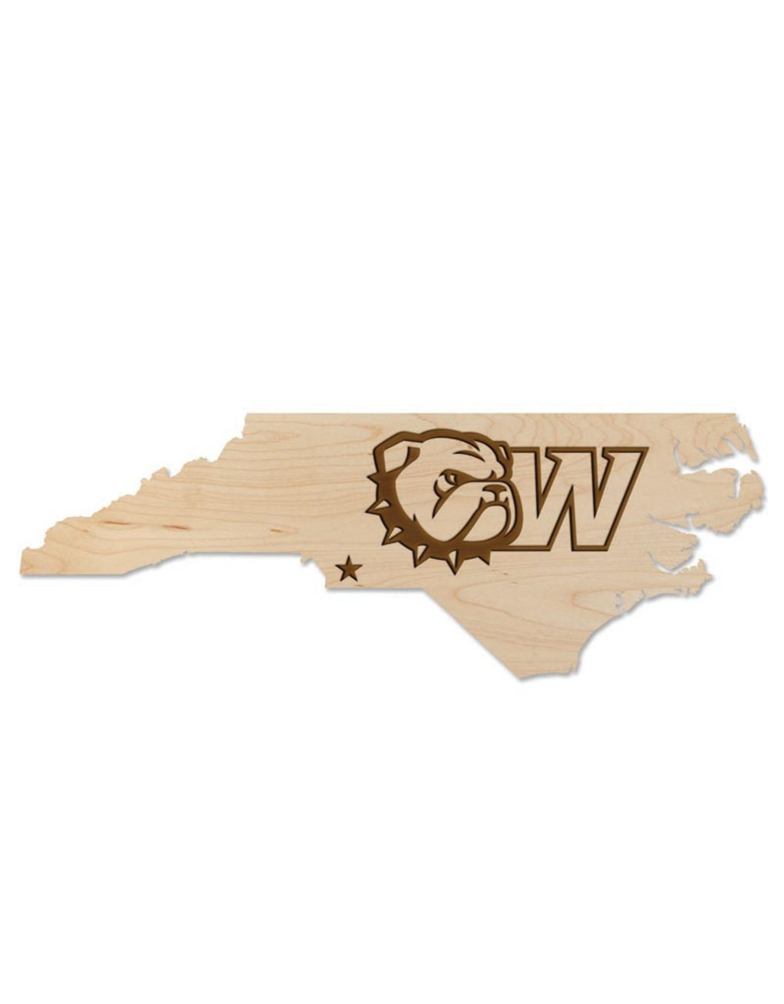 "LazerEdge 24"" x 8"" x .25"" Maple State Wood Wall Hanging New Dog Head W"