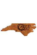 "LazerEdge 24"" x 8"" x .25"" Cherry State Wood Wall Hanging New Dog Head W"