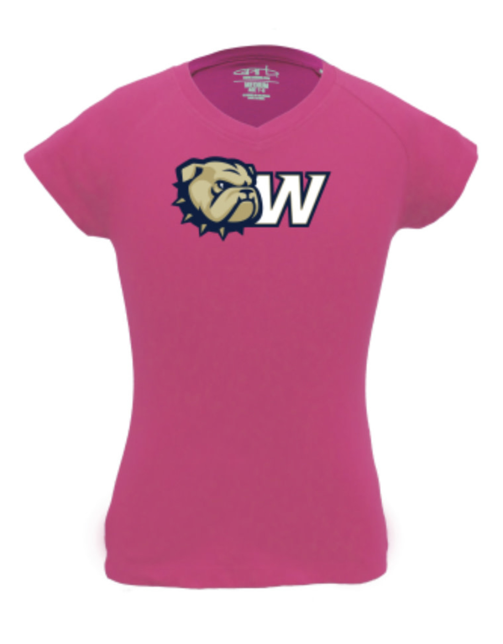 Garb Toddler Pink New Dog Head W Vickie Vneck SS Tee