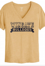 League Gold Intramural Boyfriend Wingate Bulldogs Vneck SS Tee