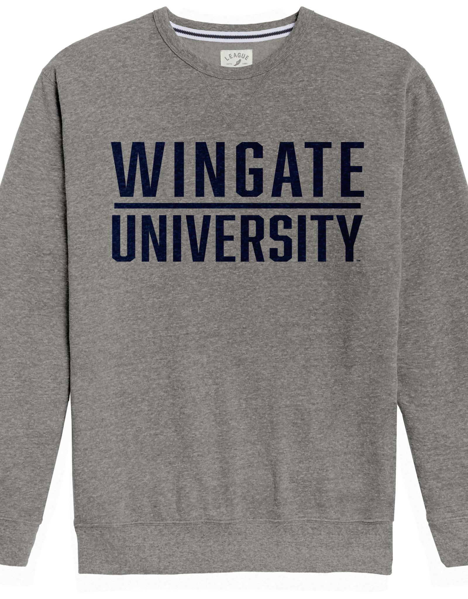 League Grey  Wingate Underline University Heritage Crew