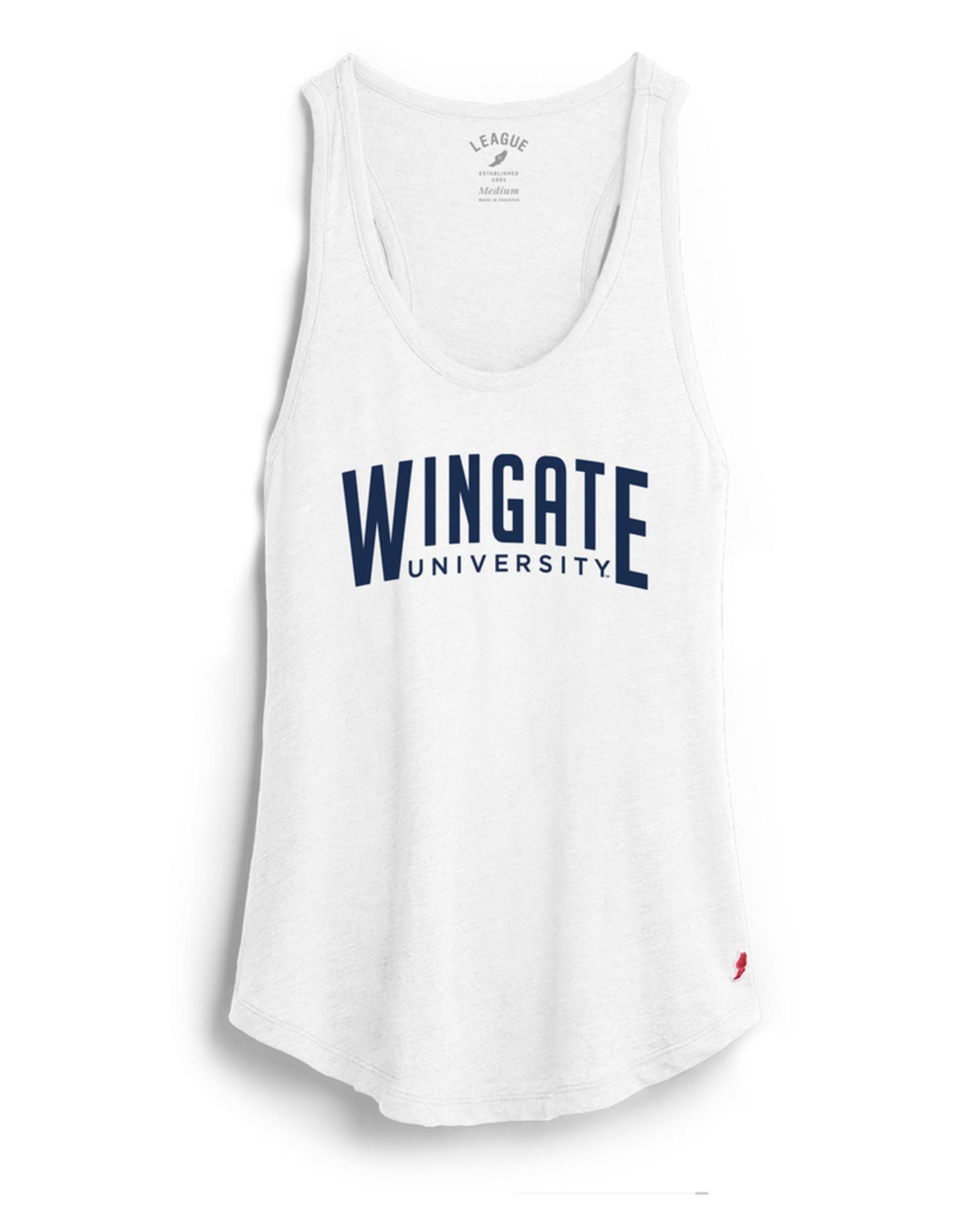 League White Wingate University Varsity Tank