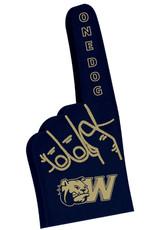 """MCM 16"""" Navy Foam One Dog Finger Hand"""