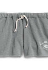 League Ladies Grey Unwind  Relaxed Fit Shorts