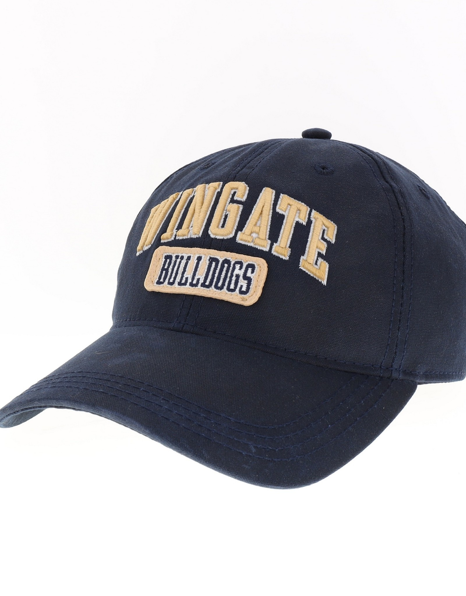 Legacy Navy Wingate Bulldogs Unstructured Adjustable Waxed Cotton Hat