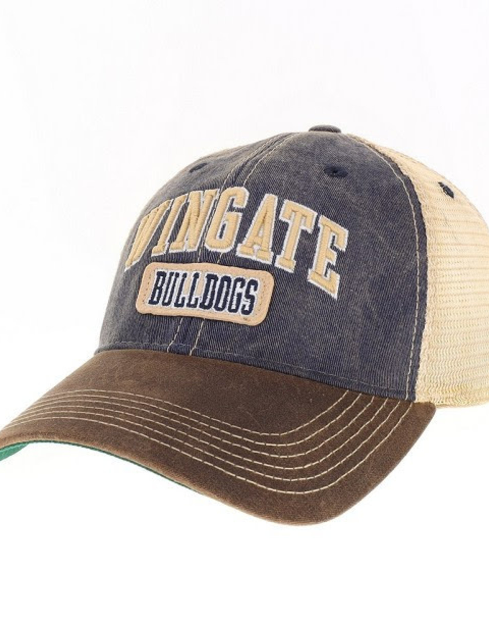 Legacy Navy Brown Wingate Bulldogs Unstructured Snap Back Hat