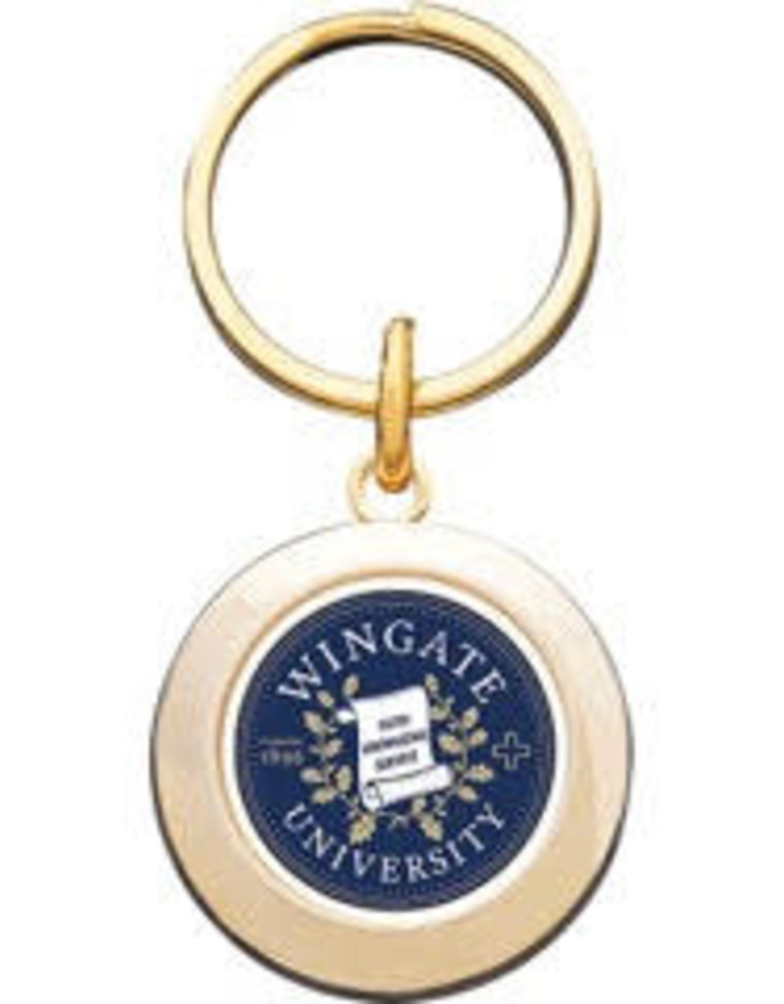 Jardine Gold Prestige Round  Seal Keychain