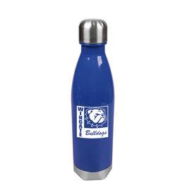 MCM 25oz Plastic Royal Blue Tritan Bottle Twist Top Wingate New Dog Head Bulldogs