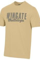 Champion Super Fan Navy Wingate University Applique Vegas Gold SS Tee