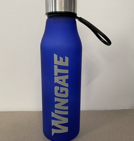 The Fanatic Group 20oz Royal Blue Wingate Glass Bottle With Wrist Strap Screw On Lid