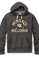 League Stadium Charcoal Wingate New Dog Head Bulldogs Hoodie Sweatshirt