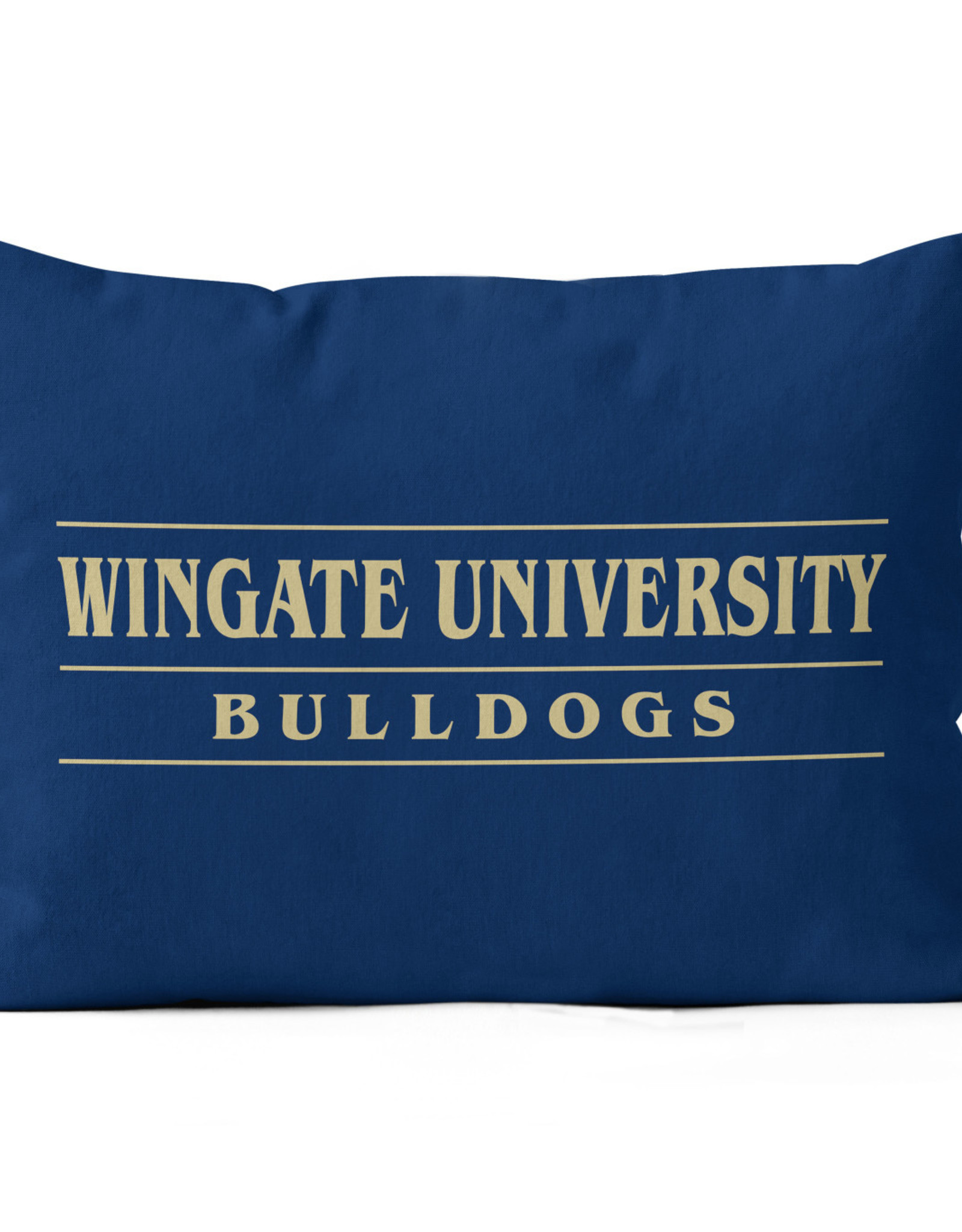 "Jardine 14""x20"" Navy Indoor Sublimated Pillow Wingate University Over Bulldogs"