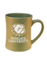 RFSJ 16oz Vegas Gold Etched Matte Mug Dog Head over WU