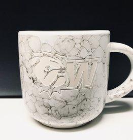 RFSJ 17oz White Marbled Natural Mug WU Front New Dog Head W Back