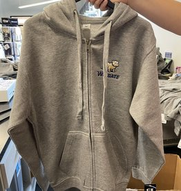 Mill Tex Grey Celsius Embroidered Full Dog Over Wingate Full Zip Hoodie Jacket