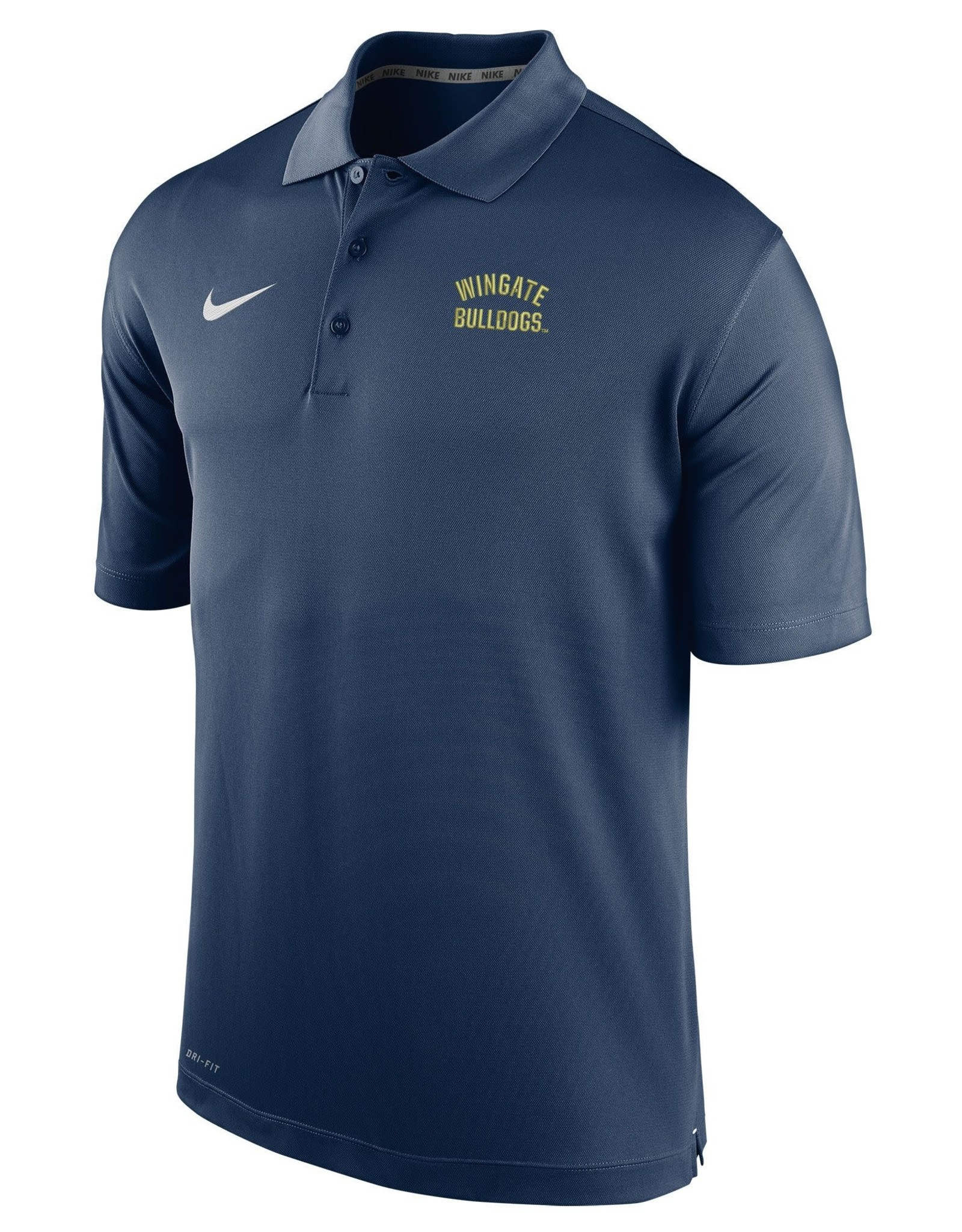 Nike Navy Wingate Bulldogs Embroidered Varsity Performance Polo