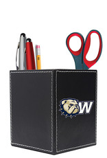 The Fanatic Group Wingate Black Leather Desk Caddy