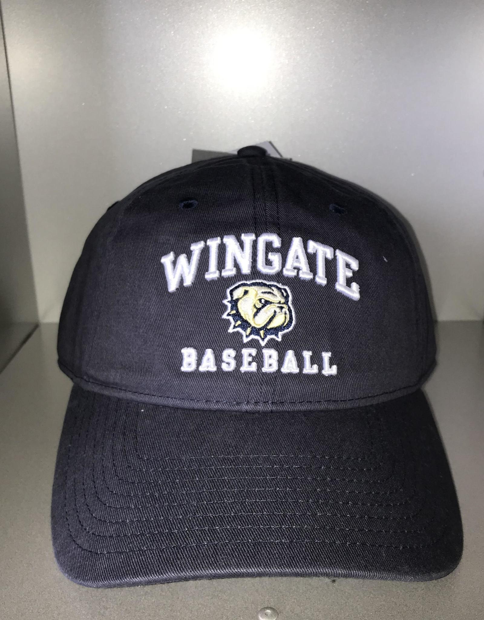 The Game Deep Navy Wingate New Dog Head Baseball Unstructured Adjustable Slide Hat