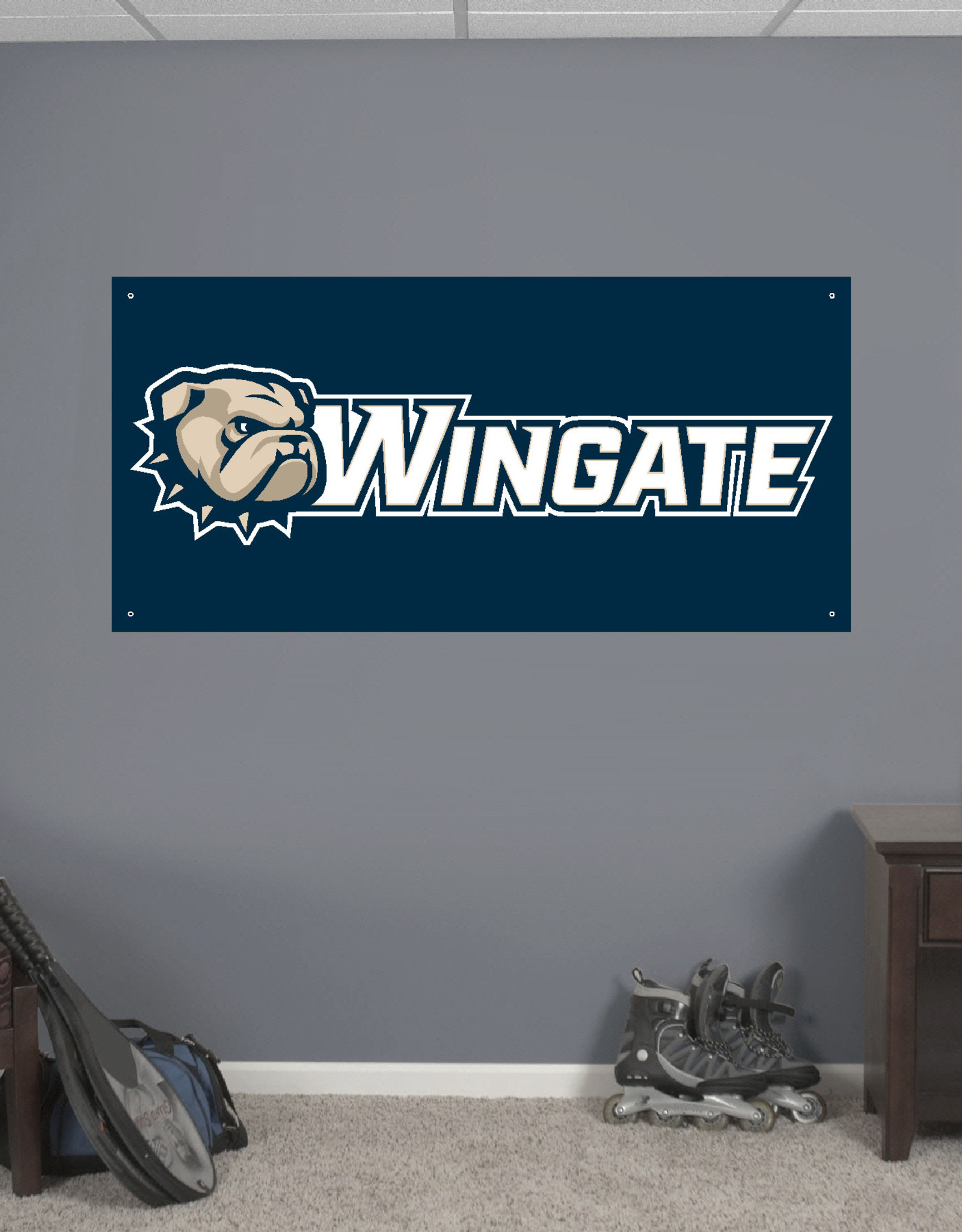 CDI 2' x 4' Dog Head Wingate Gametime Banner