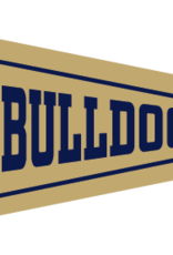 Collegiate Pacific 6 x 15 New Vegas Gold Dog Head Bulldogs Wingate Pennant