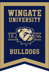 Collegiate Pacific 18 x 24 New WU Dog Head Bulldogs Rafter Banner Dovetail Pennant