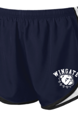Augusta Youth Girls Navy Wingate New Dog Head Athletic Shorts
