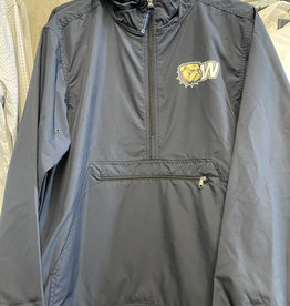 Charles River Navy Pack and Go New Dog Head 1/4 Zip Pullover